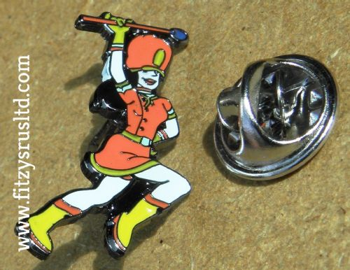 Marching Majorette Lapel Hat Cap Tie Pin Badge Brooch Dancer Baton Gift Souvenir